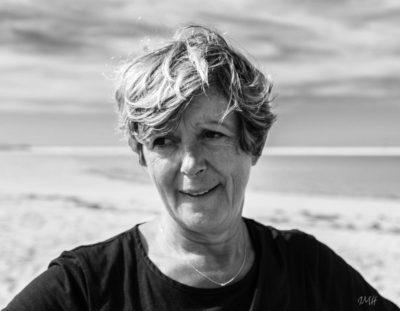 Yvette sur le banc d'Arguin (bassin d'Arcachon, octobre 2017)