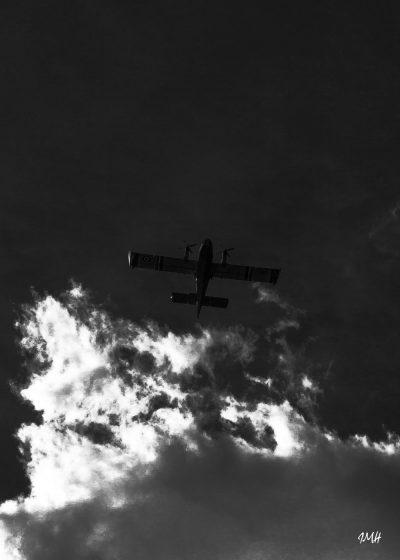 Canadair dans le ciel du Laouzas 2