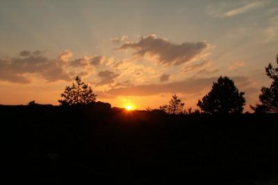 Coucher sur le Caroux 2 - avant les éoliennes (archives)