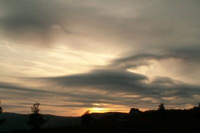 Nuages sur le Caroux - avant les éoliennes (archives)