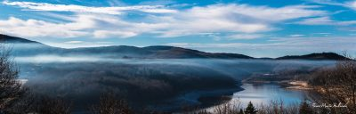 Fin de condensation au-dessus du lac du Laouzas (nouvelle collection)