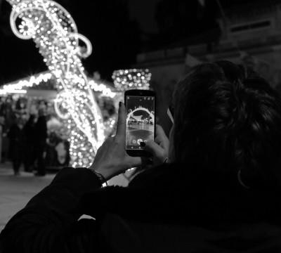 Montpellier. Marché de Noël N&B