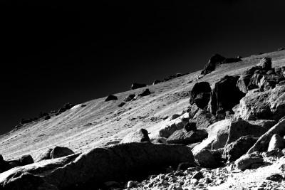 Sur la lune N&B