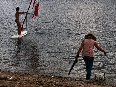 Lac du Laouzas. Elégance du geste