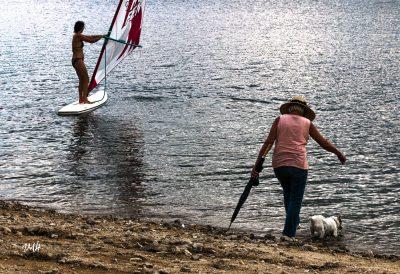 Lac du Laouzas. Elégante flânerie