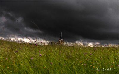 Senones en Salm. Eglise sur le plateau Saint-Maurice
