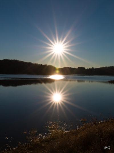 Lac du Laouzas, soir de janvier 2018 (1)