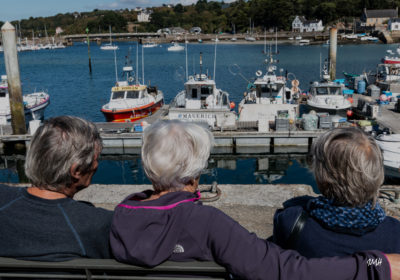Bretagne en baie d'Audierne. Sur le port d'Audierne