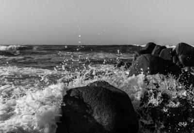 Bretagne en baie d'Audierne. Assaut Noir & Blanc