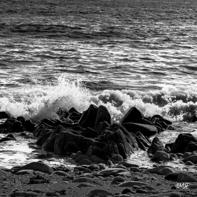 Bretagne en baie d'Audierne. Détail sous Plouhinec Noir & Blanc