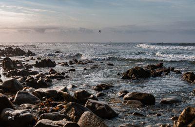 Bretagne en baie d'Audierne. Marée montante sous Plouhinec 2