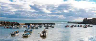 Bretagne en baie d'Audierne. Le port refuge de Pors Polhan