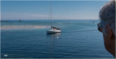 Bretagne en baie d'Audierne. Retour au port